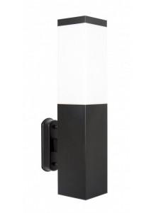 Vnější nástěnné svítidlo Inox Black Square SS802-A BL